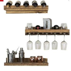 3 Shelf Wood Wine Rack